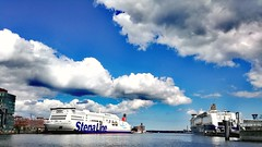 Cruising (DrQ_Emilian) Tags: ship boat water river harbour sky clouds light sunlight elba kiel germany europe cruiseship travel outdoors color