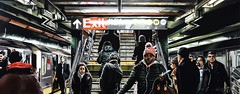 NEW YORK #45 (S©'rates) Tags: nyc new york stairs trains people subway painting light enamel metro luz cuadro estación station trenes gente esmaltes