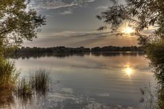 Sunset Badesee Großer Weserbogen (HDRforEver) Tags: hdr canon 600d sunset sonnenuntergang lake see porta westfalica nrw nordrheinwestfalen august summer water groser weserbogen new interesting sky badesee südlicher sun outside nature park orange