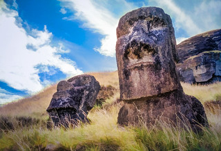 Easter Island Moai - Textured