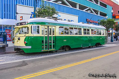 MUNI 1015 | Streamliner PCC Streetcar | MUNI F Line (M.J. Scanlon) Tags: muni sanfranciscomunicipalrailway streamlinerpccstreetcar streetcar muni1015 illinoisterminalrailroad fline munifline sanfrancisco california fishermanswharf scanlon travel trip vacation sightseeing photo photography photographer photograph picture capture digital rail railway train passenger passengers trolley electric street pcc