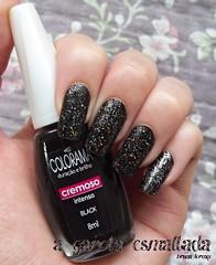 Esmalte Black (Colorama) e O Poder da Preta (Dote - Ludmilla). (A Garota Esmaltada) Tags: agarotaesmaltada unhas esmaltes nails nailpolish manicure black colorama opoderdapreta dote ludmilla preto glitter