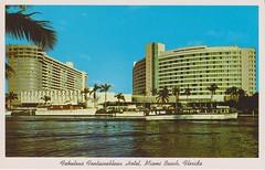 ** Miami Beach (Fla) USA ** -12 (Impatience_1) Tags: fontainebleau hotel hôtel miamibeach florida floride usa 1961 cartepostale postcard numérisée scanned impatience indiancreek palmier palmtree architecture