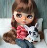 New bulldog puppy. (Fenekdolls) Tags: blythe doll toys bulldog puppy wool felting