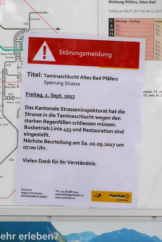 Bad Ragaz - Tamina Gorge Closed