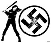 Smashing (Hutch.) Tags: antifacist antiracist antihate smashnazis antiwhitesupremacy hutch monochrome illustration swastika fishbone