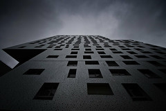 The tetris tower (arnaud patoto) Tags: buliding tour pairs architecture dark sombre ciek sky cloud nuage cases sony alpha77ii 1024mm perspective