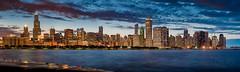 Chicago (mikeSF_) Tags: chicago illinois il planetarium shedd aquarium night longexposure skyline city cityscape skyscraper searstower willistower hancock prudential wacker bluecross trump essex navypier reflection wwwmikeoriacom pentax k3ii mikeoria photo pano panorama