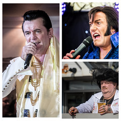 Multiple sightings this weekend have once more called into question whether Elvis is really dead... (Andy J Newman) Tags: color convention elvis d500 porthcawl sing tribute colorefex tryptych nikon colour fun funny humor humour humerous