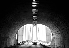 Tunnel bridge (MortenTellefsen) Tags: tunnel bridge bw blackandwhite blackandwhiteonly svarthvitt monocrome monochrome light exodus norway norwegian