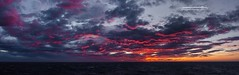 Sunset at sea (Squareburn) Tags: arctic sunset norway offshore atsea panorama seascape