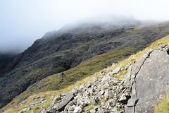 DSC_9381 (nic0704) Tags: scotland hiking walking climbing summit highlands outdoor landscape hill mountain foothill peak mountainside cairn munro mountains skye isle island cuilin cuillin blaven blà bheinn red black elgol