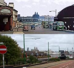 Woodside Ferry Terminal, Birkenhead, 1960s and 2017 (Keithjones84) Tags: birkenhead wallasey merseyside wirral thenandnow rephotography newbrighton