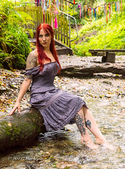Resting! (trethurffe2001) Tags: autumn cloudy cloutie cornwall daylight england female glen kernow lifestyle log model naturallighting photographicmodel portrait redhair stnectansglen steps sunlight trethevey valley water woodedvalley woods unitedkingdom gb