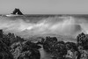 Out to Sea (Dan M. Thompson) Tags: coronadelmar littlearch seastack sea ocean pacific pacificocean waves nikon d800e california cali highway1 1 art fineart bnw blackandwhite longexposure manfrotto openshutter seascape pacificbeach beach landscape desaturated reef coral