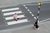 151/365 - Cross-legged crossing (Spannarama) Tags: 365 june zebracrossing crosswalk crossing crosslegged sitting girls pink black white road photo photographer photoshoot moorlane london uk