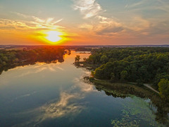 (Daniel000000) Tags: sunset dji djispark spark drone uav lake reflection reflections trees forest green summer wisconsin midwest sky clouds water park