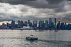Vancouver Skyline (sierrasylvan) Tags: adobe adobebridgecc2017 adobelightroomcc2015 adobephotoshopcc2017 boats barge ferry passengerferry tugboat buildngs skyscrapers towers canon canoneos6d canonef70200mmf28lisllusmlens bw bwmrcfprokaessermancircularpolarizingfilter filter ocean pacificocean canada britishcolumbia southcoastregion lowermainlanddistrictnewwestminister vancouver burrardinlet sea architecture black blue city cityscape clouds dock landscape gray green orange outdoor red sky summer water inlet white