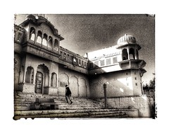 India dreams series (Nick Kenrick..) Tags: pushkar rajasthan india hindu temple one alone pilgrim steps dreams arabiannights