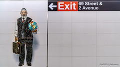 Manhattan, New York: Second Avenue subway 72nd Street station mural of riders (nabobswims) Tags: lightroom mta manhattan metro mural ny nabob nabobswims newyork sel18105g secondav sonya6000 station subway ubahn unitedstates us
