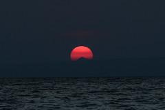GREECE-SUMMER (X-Andra) Tags: artaki beach chalkida euboea greece greek heat heatwave phenomenon red sea sun sunset
