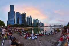 7B1A0666 Panorama 2017-Aug-09 5D4 1124 The Real NDP from MBS Side (yimING_) Tags: panoramic cityscape landscape mbfc marinabayfinancialcentre fullertonhotel fullertonbayhotel fanotec nodalninja sunset reflection clouds orange singaporenationaldayparade2017 singapore national day parademarina bay sands esplanade
