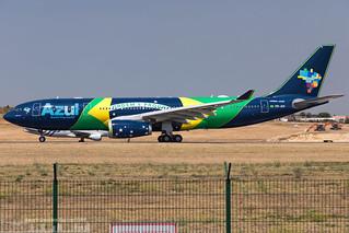 PR-AIV AZUL Linhas Aéreas Brasileiras Airbus A330-243 painted in Brazilian Flag special colours (LIS - LPPT)
