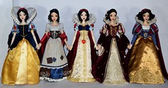 The Limited Edition Snow White 17 Inch Dolls: 2009 to 2017 - Full Front View (drj1828) Tags: disney disneystore disneyparks shanghai 2009 2016 2017 limitededition le doll collectible 17inch sidebyside groupphoto snowwhite princess snowwhiteandthesevendwarfs rags wishing platinum