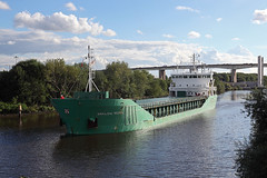 'Arklow Rebel' Barton upon Irwell 5th August 2017 (John Eyres) Tags: arklow rebel taken barton upon irwell she is seen having just cleared infamous new lift bridge where deck section collapsed spectacularly 2016 closing canal for several months two pillars needed be repaired have been covered scaffolding until recently the lays road north bank awaiting installation manchestershipcanal