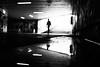 Encounter 10.365 (ewitsoe) Tags: 10 365 monochrome ewitsoe fujifilm cityscape city testing blackandwhite monochrome365 polska poznan poland vityscape urban puddle reflection creepy pasaz passage summer