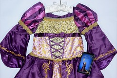 Disneyland Purchases - 2017-09-10 - Rapunzel Deluxe Costume - Midrange Front View (drj1828) Tags: disneystore disneyland purchase rapunzel tangled deluxe costume girls designer disneydesignercollection 2017