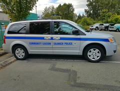 Saanich PD, BC Community Liaison Unit (walneylad) Tags: saanich britishcolumbia canada policedepartment policeservice policeforce constabulary emergencyvehicle policevehicle patrolvehicle fuzz blackandwhite blueandwhite supportvehicle supportunit communityliaison dodge van grey