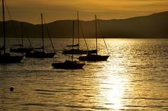 dourado fds procê (Ruby Ferreira ®) Tags: boats bay baía silhuetas siljouettes sunset montains morros barcos stoantoniodelisboa