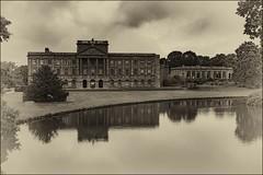 The House at Lyme (Evoljo) Tags: lymehouse house nationaltrust lake water trees cheshire blackwhite nikon d500