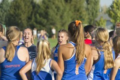 Getting Pumped Up (aaronrhawkins) Tags: timpview thunderbirds tbirds race girls crosscountry runners run cheer motivate motivation team track meet orem utah jessica aaronhawkins
