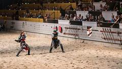 An impressive show of swordmanship. (kuntheaprum) Tags: medievaltimes dinnershow horse sword lance joust nikon d750 sigmaart 50mm f14