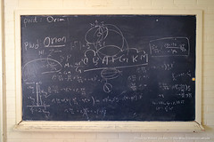 Week in Photos - 03 (Ole Miss - University of Mississippi) Tags: 2017 rkj3125 chalk chalkboard astronomy physics formula math calculations notes university ms usa