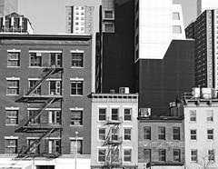 buildings of New York b&w (albyn.davis) Tags: blackandwhite nyc newyorkcity architecture buildings contrast sunny light skyline apartments