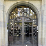 Arch-framed iron and glass door, Barcelona thumbnail