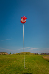 Red and White (A Great Capture) Tags: ig parkscanada park hill wind flag toronto northyork downsviewpark agreatcapture agc wwwagreatcapturecom adjm ash2276 ashleylduffus ald mobilejay jamesmitchell on ontario canada canadian photographer northamerica torontoexplore summer summertime été 2017 red white poll