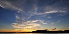 2017-08-16 Sunset (02) (2048x1024) (-jon) Tags: anacortes skagitcounty skagit washingtonstate washington salishsea fidalgoisland sanjuanislands pugetsound guemeschannel curtiswharf pnw pacificnorthwest northwest pacific waterfront sky sunset composite stitched cirrus cirrusclouds cloud clouds a266122photographyproduction