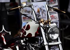 Rolling Art... (Harleynik Rides Again.) Tags: calnebikemeet rollingart flames apes hd chopper bike biker harleydavidson shotawayphotography allrightsreserved harleynikridesagain