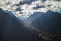 Buachaille Etive Beag and River Coupall from Beinn a'Chrulaiste (Graham Cameron Himself) Tags: beinnachrulaiste bluesky buachailleetivebeag clouds fluffyclouds glen glencoe mountain river rivercoupall sunshine unitedkingdom