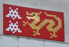 Space Invader (PA_1178) (Ausmoz) Tags: paris street art streetart rue urbain urban mur murs wall walls installation installations decal decals mosaic mosaique mosaiques space invader « invaders » tile tiles 1178 pa1178 75013