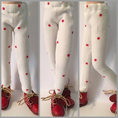 White With Red Polk A Dots...Tights For Blythe..