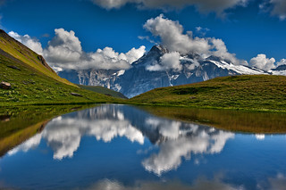 Hiking in Switzerland ; Grindelwald , Trift , above Bachsee . No. 8962