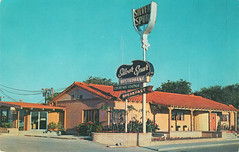 Silver Spur Restaurant - 1960s (Brett Streutker) Tags: restaurant cafe diner eatery food hamburger cheeseburger eat fast macdonalds burger vintage colonel sanders kentucky fried chicken big mac boy french fries pizza ice cream server tip money cash out dining cafeteria court table coffee tea serving steak shake malt pork fresh served desert pie cake spoon fork plate cup drive through car stand hot dog mustard ketchup mayo bun bread counter soda jerk owner dine carry deliver silver spur 1960s