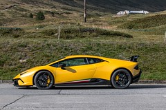 LP640-4 Performante (Nico K. Photography) Tags: lamborghini huracán lp6404 performante yellow new supercars rare nicokphotography switzerland berninapass