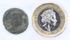 Two Coins (haberlea) Tags: home coin coins metal money pound roman british macromonday evolution
