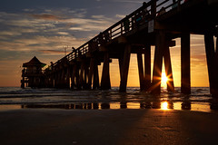Sunset sunstars (another_scotsman) Tags: naples sunset florida beach rays sunstars seascape pier greatphotographers greaterphotographers